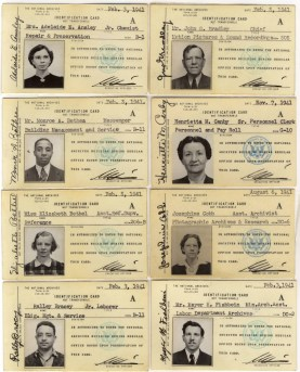National Archives Employee Identification Cards, 1941. (Records of the National Archives)