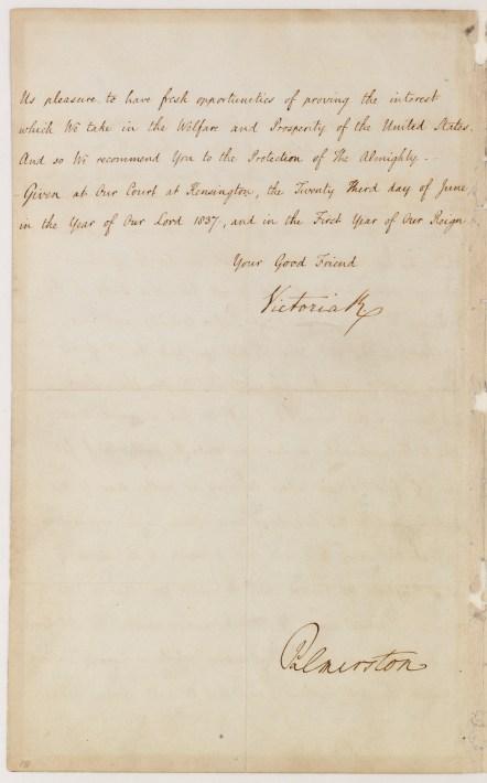 Letter from Victoria R to Martin Van Buren, p 2