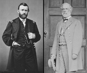 Gen. Ulysses S. Grant and Gen. Robert E. Lee (National Archives Identifiers 558720 and 525769)