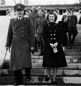 Adolf Hitler and eva Braun, ca. 1942. They married in Hitler's Berlin bunker on April 29 and both committed suicide on April 30, 1945. (242-EB-27-15E)