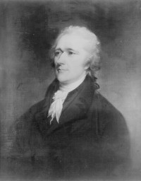 Hamilton, Alexander. Painting  by John Trumbull (copy). (Records of Commissions of the Legislative Branch, National Archives)