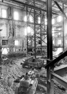The Shell of the White House during the Renovation, May 17, 1950. (National Archives Identifier6982099)