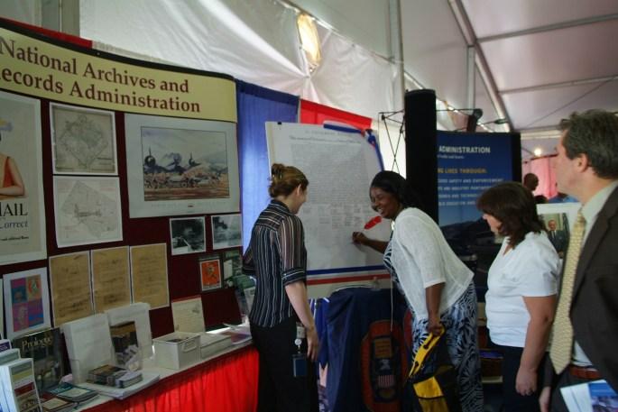 NARA booth at Public Service Recognition Week, Washington, D.C.May 4, 2006