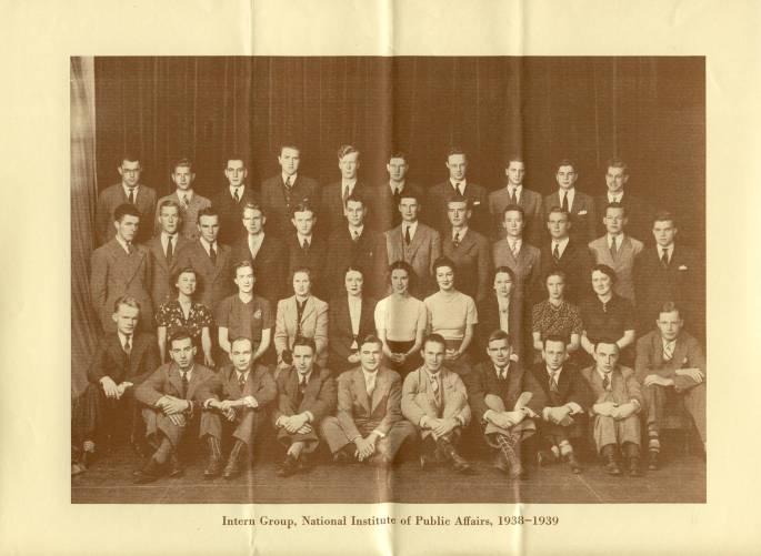 NIPA Interns 1938-1939, from Brochure - RG 64, A1 1, file 77.6 Internships, box 40