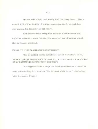 Memo from Bill Safire to H.R. Haldeman, re: In Event of Moon Disaster (the Safire Memo), July 18, 1969. (Richard Nixon Presidential Library and Museum, National Archives)