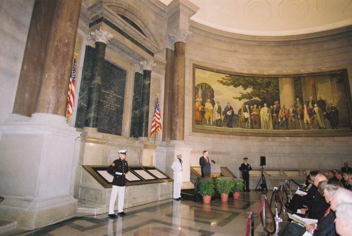 Rededication Ceremony with President Bush