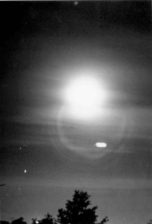 Photo from the New York, NY sighting, 1952. (Records of Headquarters U.S. Air Force, National Archives)