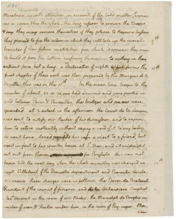 Page 4 of a letter from Thomas Jefferson to John Jay, 7/19/1789. (National Archives Identifier 783912)