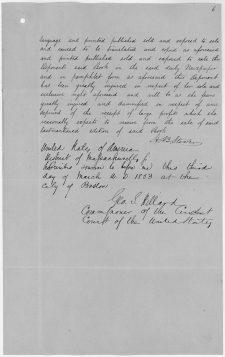 Deposition of Harriet Beecher Stowe, 3/11/1853. (National Archives Identifier 278936)