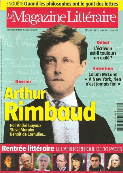 Le Magazine Littéraire 489 septembre 2009 : Arthur Rimbaud ...