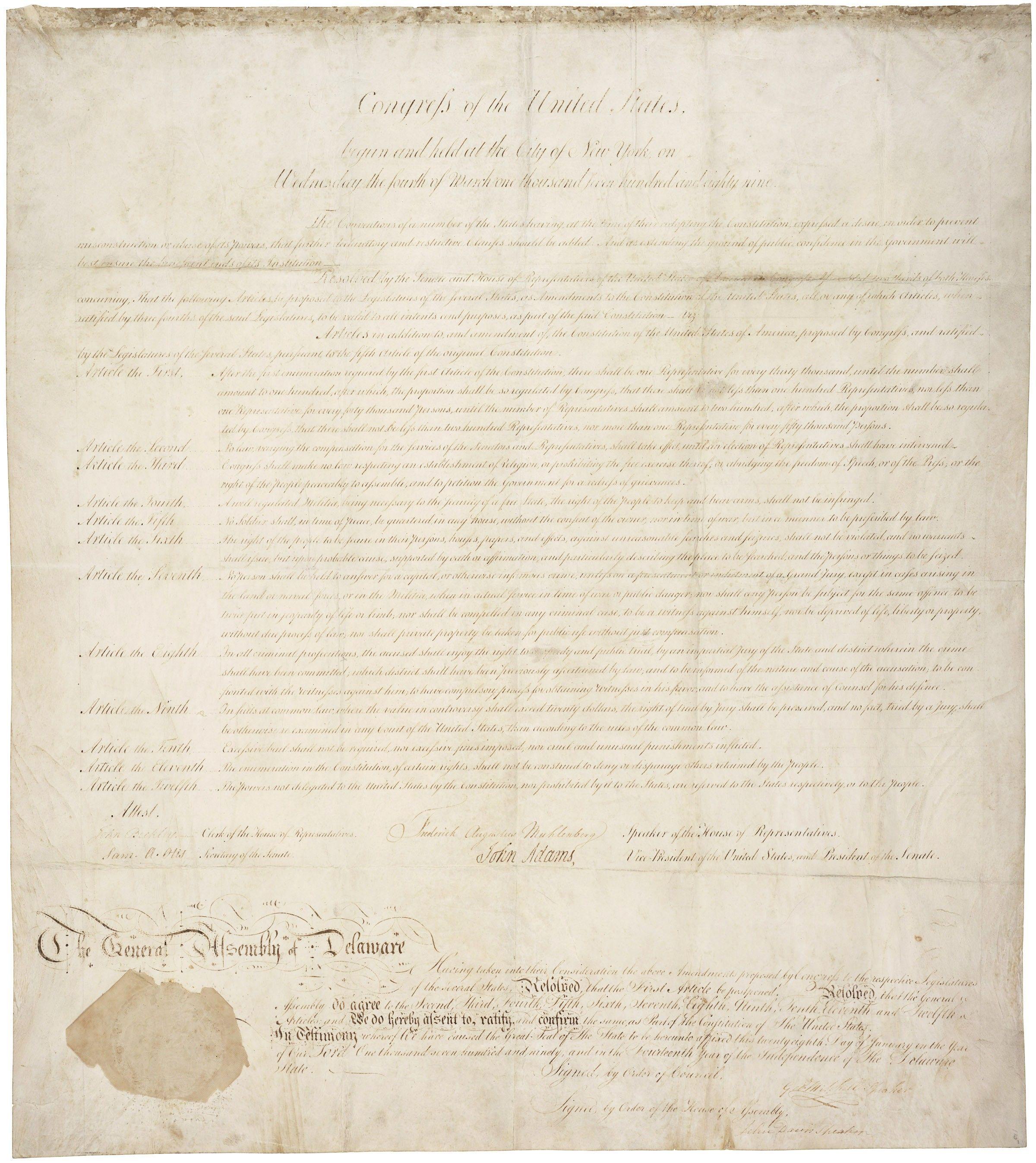 The Bill Of Rights 14 Originals
