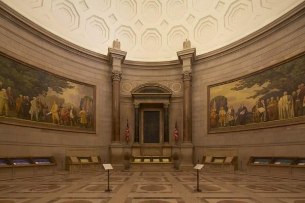 Inside National Archives Building