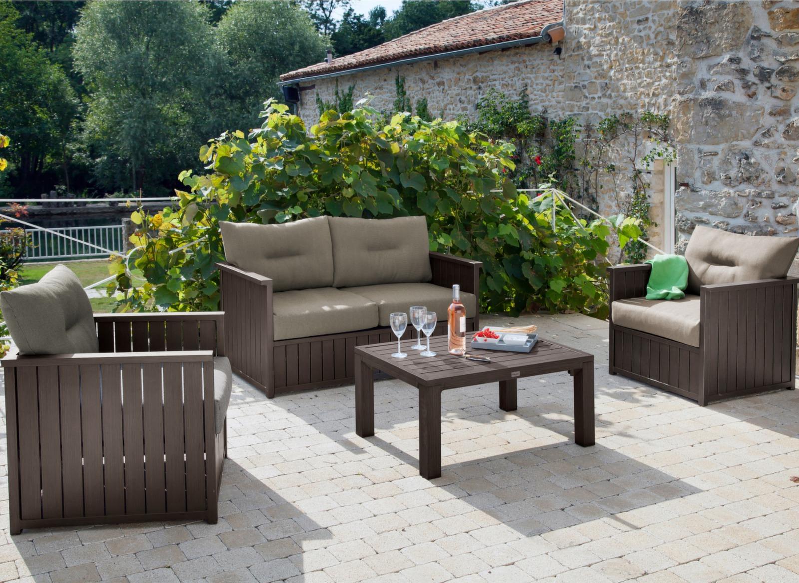 Salon Jardin Hesperide Lavidia | Emejing Table De Jardin Resine ...