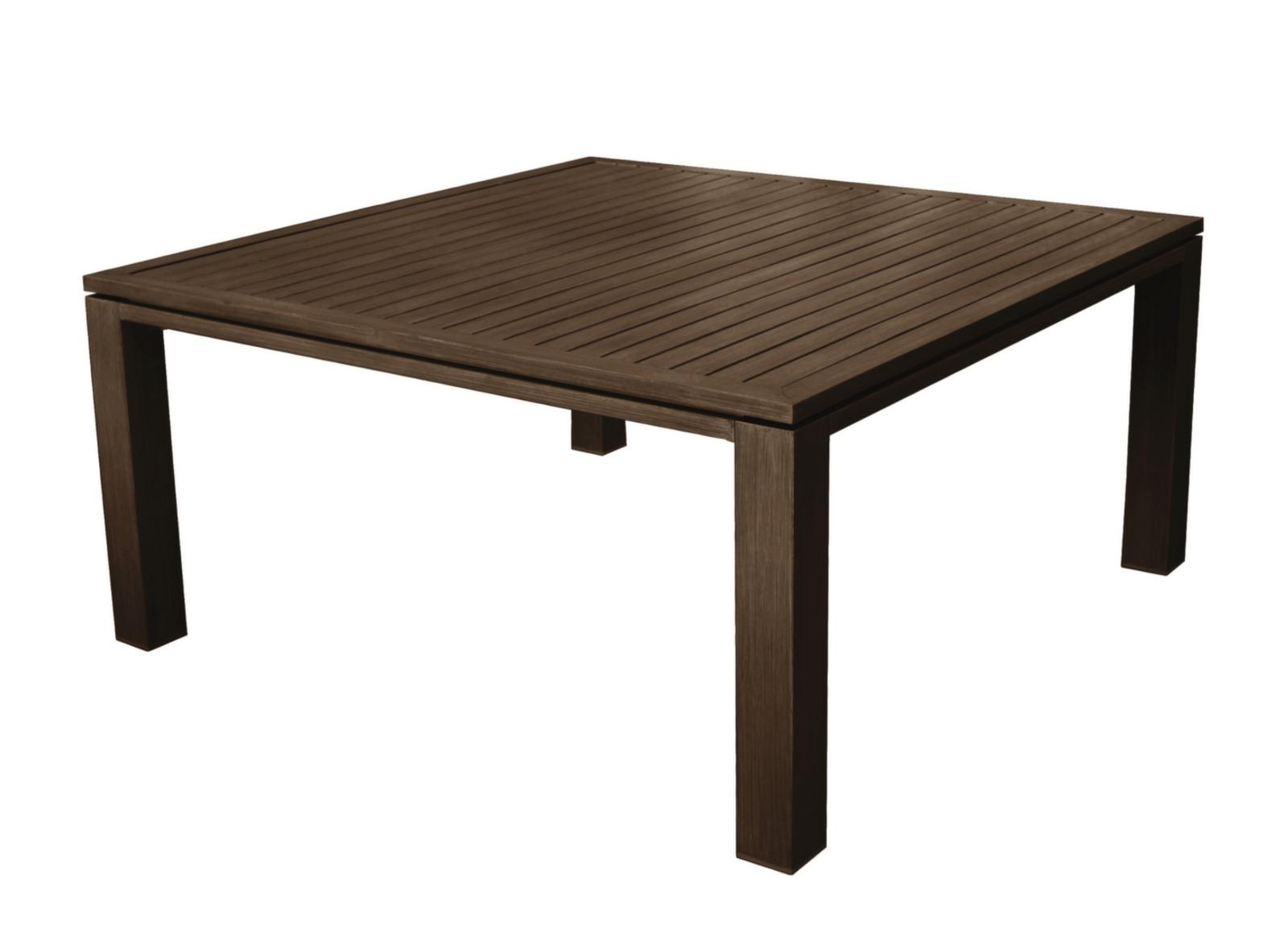 Salon Jardin Teck Table Carree | Table Basse De Salon En Bois De ...
