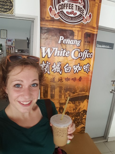 White coffee is popular here... it just tasted like overly sweetened normal coffee.