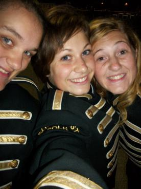We became friends during our marching band days.