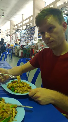 David's first mean in Thailand, pad-see-ew guy (big stir fried noodles w/ chicken).