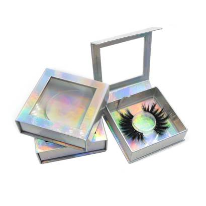 Luxury holographic square lash box with Square big window.It is necessary eyelash accessories for your first order.