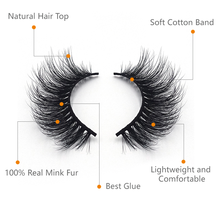 High quality mink eyelashes