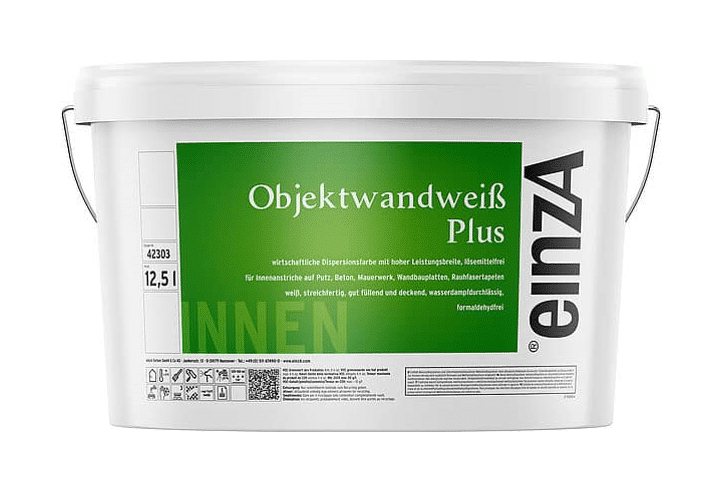 einzA Objektwandweiß Plus Wandfarbe Weiß 12,5l