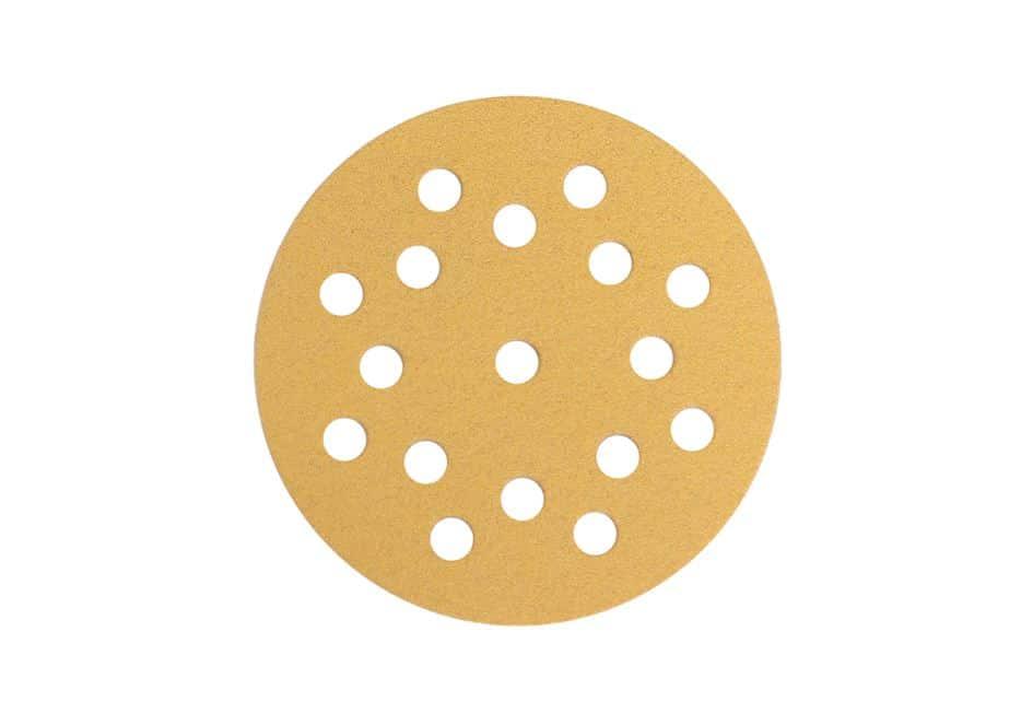 Mirka gold schleifscheiben, 17-fach gelocht, Ø125mm