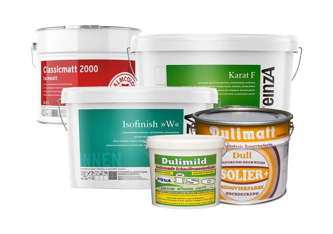 Isolierfarben / Nikotinsperre / Renovierungsfarbe