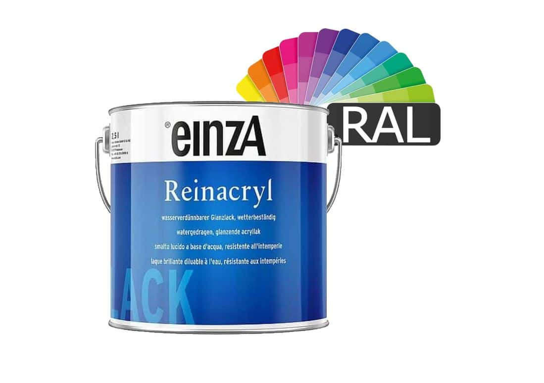 einzA Reinacryl Glanzlack RAL Farben 500ml