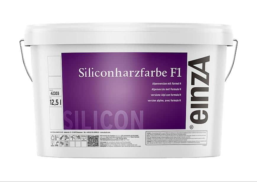 einzA Siliconharzfarbe F1 Alpenweiß 12,5 Liter