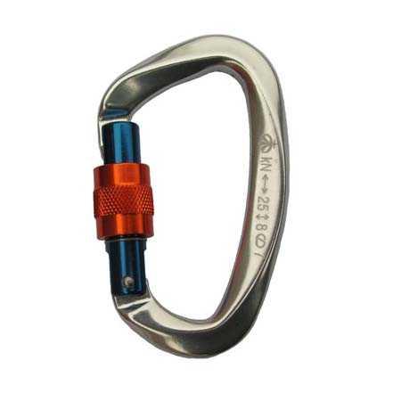 Карабин ВЕРТИКАЛЬ с ручной блокировкой, малый, с муфтой (Keylock)