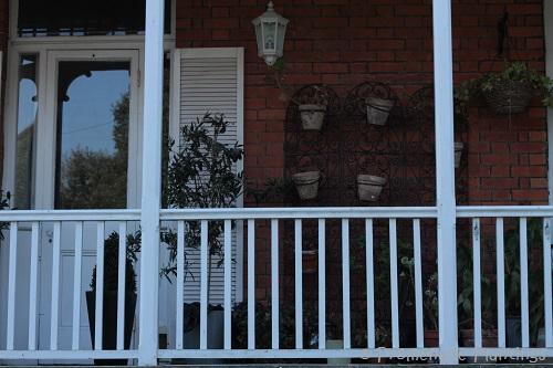 Balcony and pots