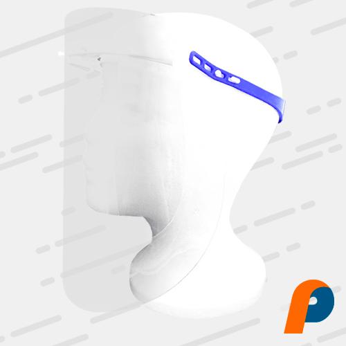 Protector facial con banda de silicon