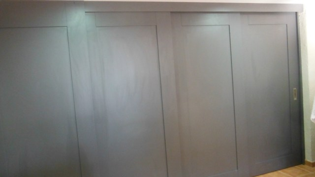 Promida porta corredera triple garatge