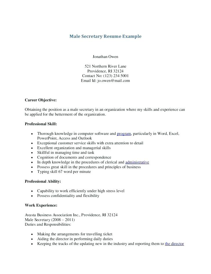 resume examples secretary – promisedesign