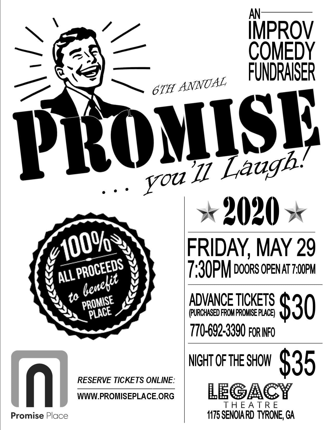 IMPROV Comedy Fundraiser FLYER - 2020
