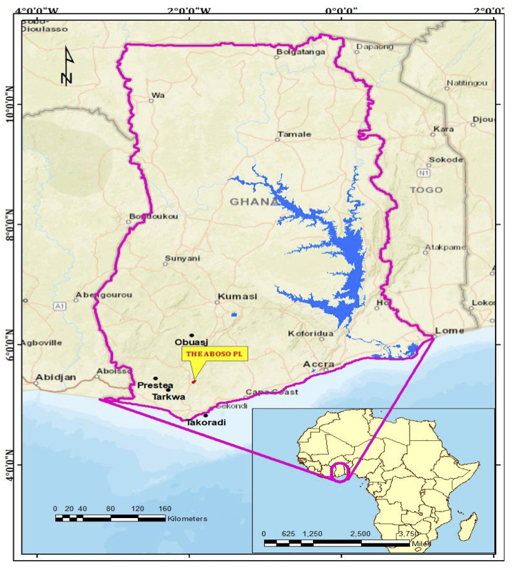 Location map of Aboso project
