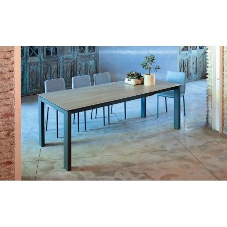 table fixe extensible ceramique epoxy chrome bois promo discount evento cancio discalsa kuydisen pure design mobliberica