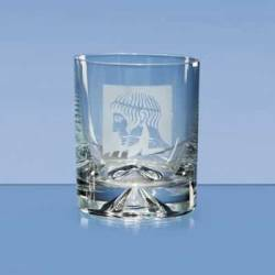 The simple contemporary design of the whisky tumbler lends itself to make an ideal display item.