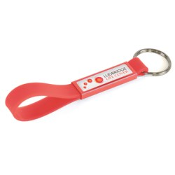 Silicone Domed Keyring