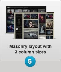 Masonry Layout with 3 column sizes