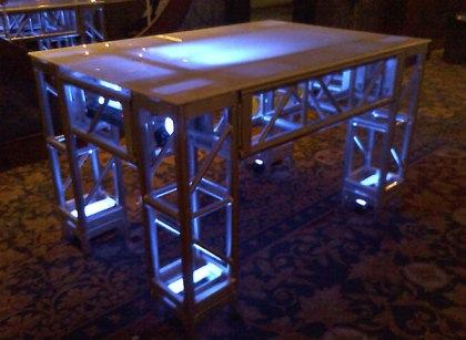 Illuminated truss table