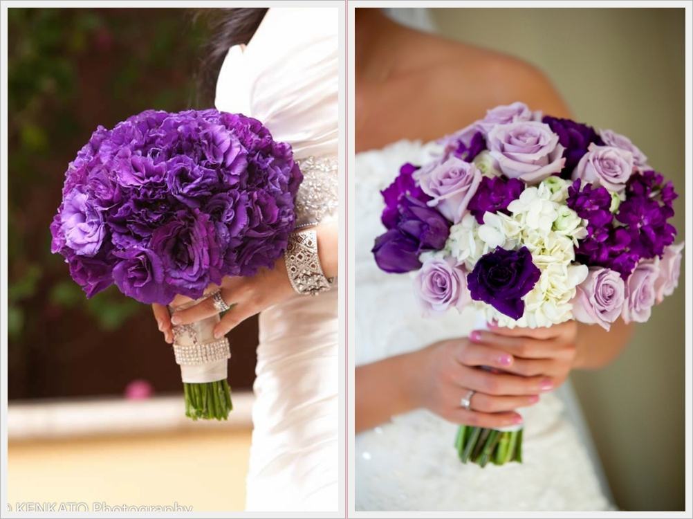 Purple Wedding Bouquet Ideas