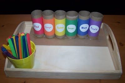 Popsicle Stick Color Sorting