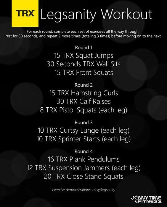 TRX Lower Body Workout