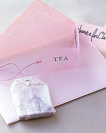 Tea party invitations for Bridal shower