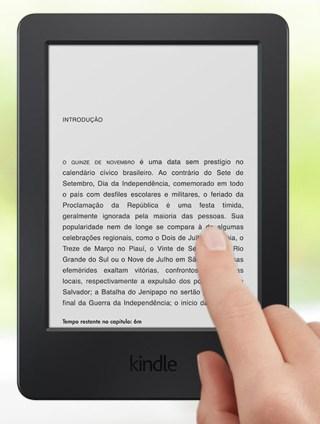 Novo Kindle com tela sensível ao toque