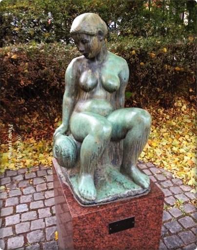 """sie stand da im Landstigs-Park das- """"Fischermädchen"""""""