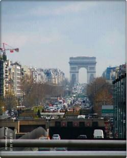 Paris -Der Arc de Triomphe de l'Étoile