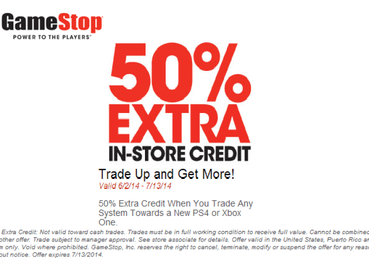 Gamestop Coupons 50 Off Entire Purchase