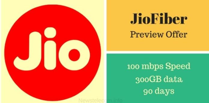 JioFiber Preview Offer - Get Unlimited Internet for 90 Days