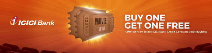 Bookmyshow ICICI Credit Card User Offer